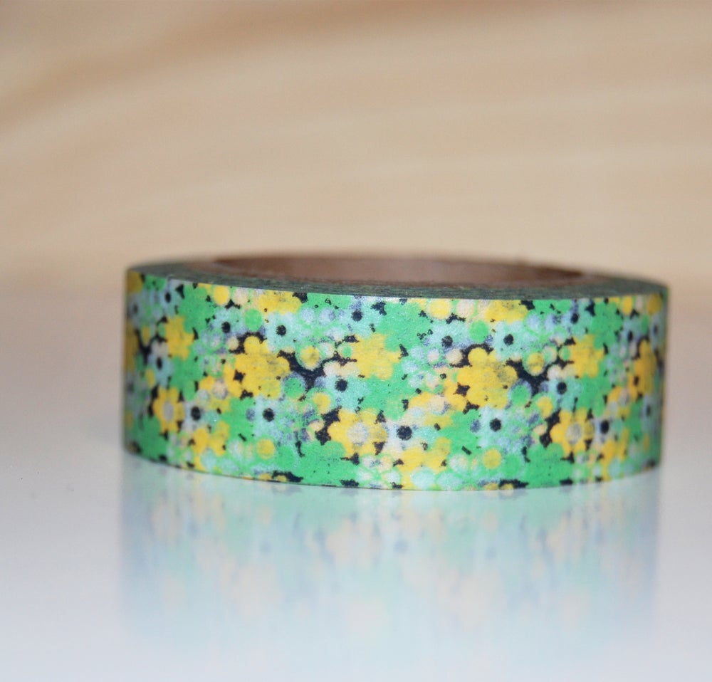 Image of WASHI TAPE FLORES AMARILLAS Y VERDES