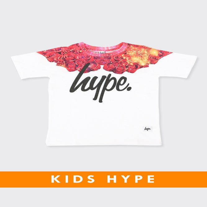 Image of HYPE KIDS. ROSES NECK TEE