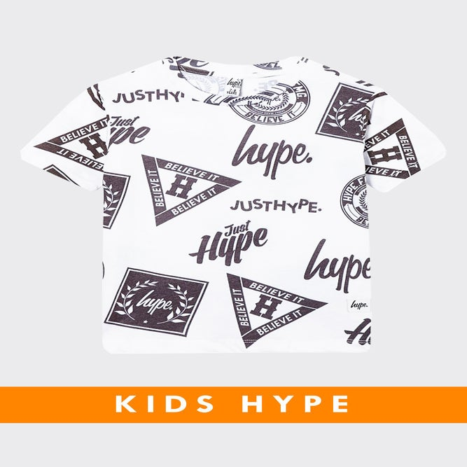 Image of HYPE KIDS. REPEAT LOGOS TSHIRT