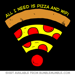 Image of Pizza and WiFi shirt