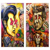 "Image of ""The King & Kennedy Bundle"" Original Paintings 24x36/24x30"