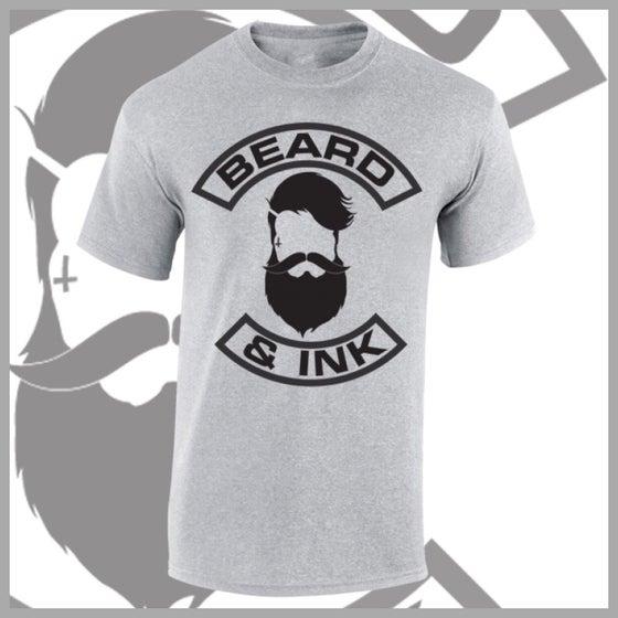 Image of Grey Beard & Ink Front Logo Tee.