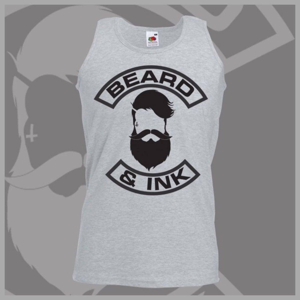 Image of Grey Beard & Ink Front Logo Vest