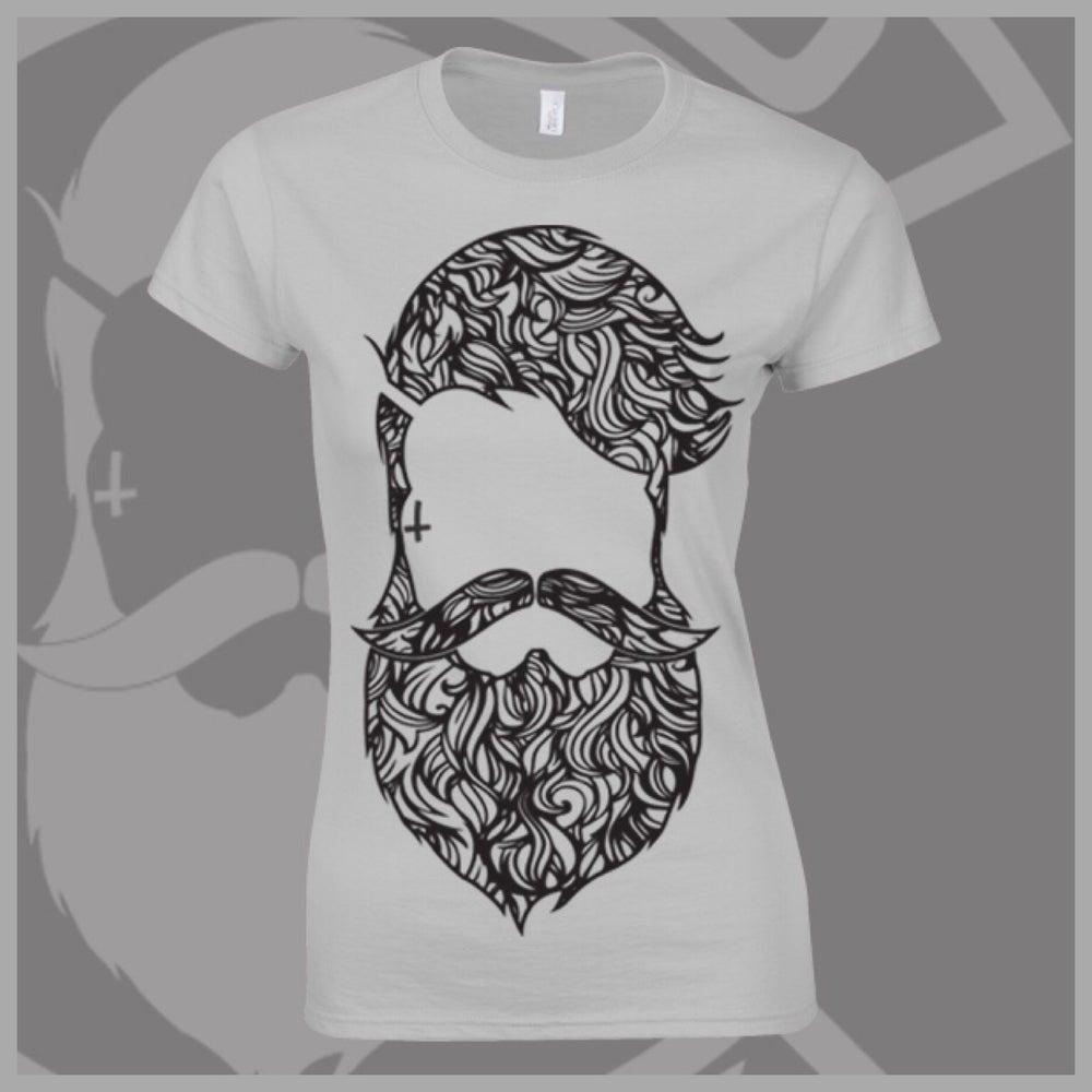 Image of Grey Beard & Ink Large Patterned Logo Tee