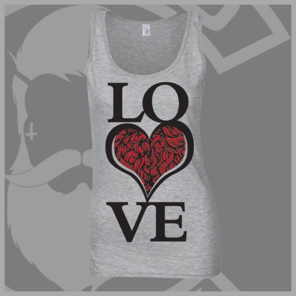 Image of Grey Beard and Ink  LOVE Bearded ❤️ Logo Vest