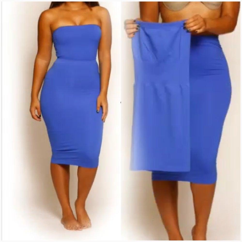 Image of Tube Dress/ Skirt Blue