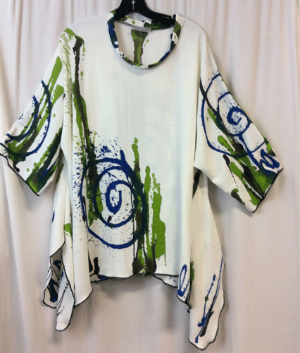 Image of Splash -Hand painted Joy tunic
