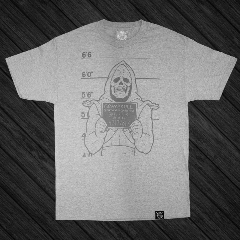 Image of GRAYSKULL LOCK-UP - GREY ||TEE