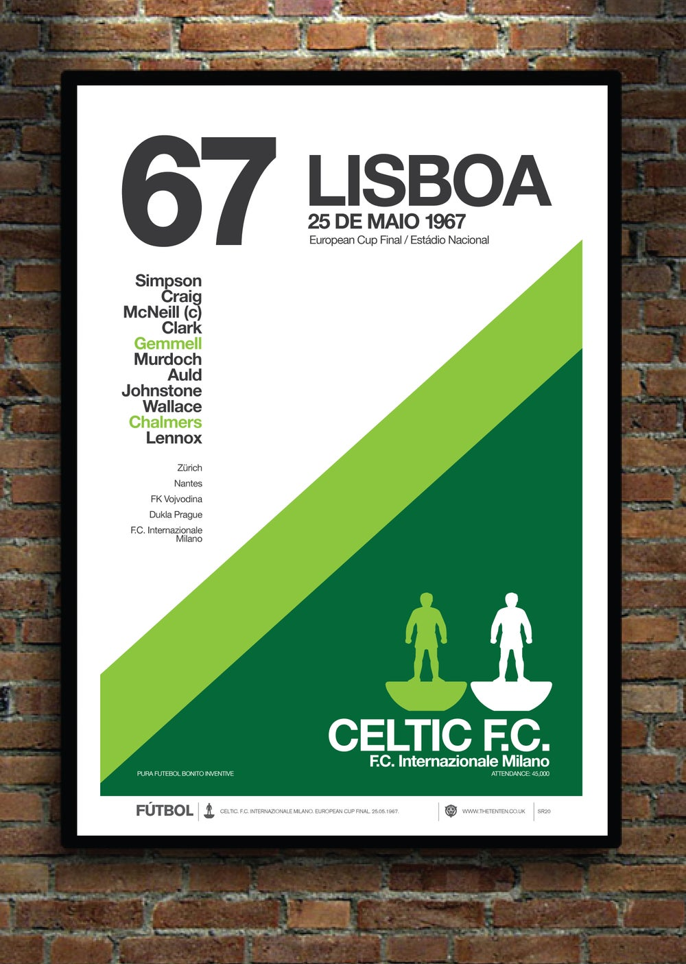 Image of CELTIC 1967 EUROPEAN CUP WINNERS