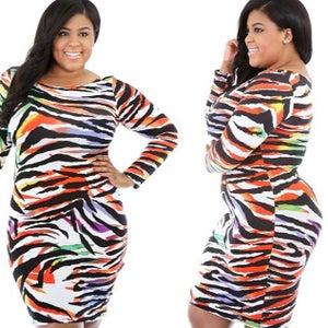 "Image of ""Colored Zebra"" Dress"
