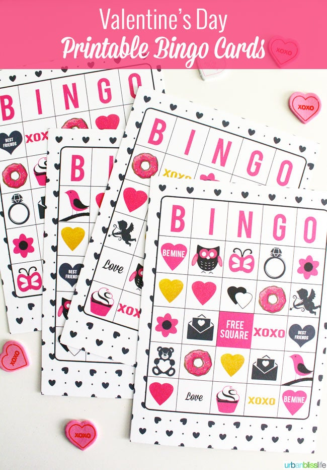 Image of Valentine's Day Bingo Cards