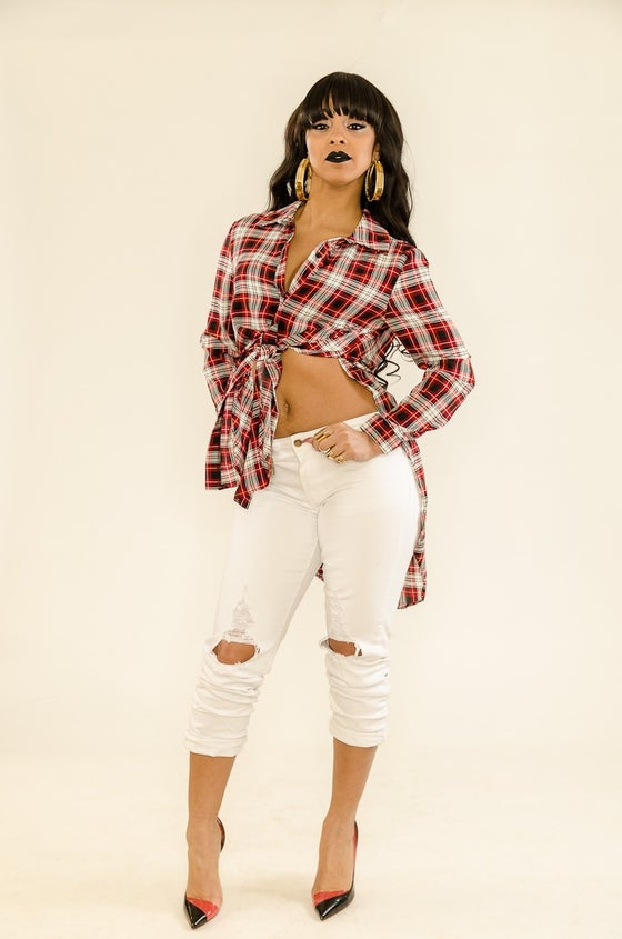 "Image of ""Mad Plaid"" blouse"