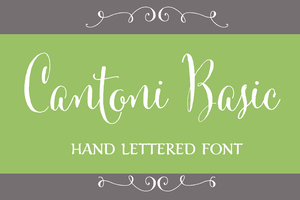 Image of Cantoni Hand Lettered Font