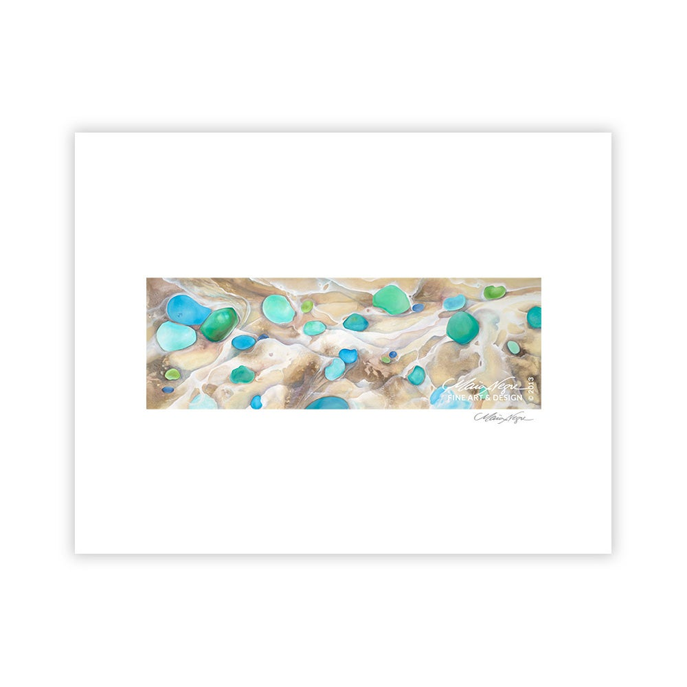 Image of Seaglass and Foam, Archival Paper Print