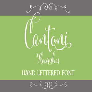 Image of Cantoni Flourishes Hand Lettered Font