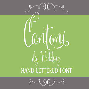Image of Cantoni DIY Wedding Hand Lettered Font