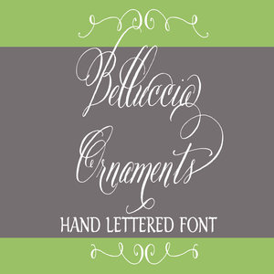 Image of Belluccia Ornaments Hand Lettered Font