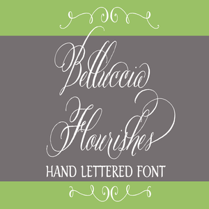 Image of Belluccia Flourishes Hand Lettered Font