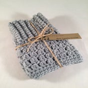 Image of Light Grey Double Sided Crochet Boot Toppers