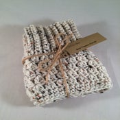 Image of Cream with Fleck Double Sided Crochet Boot Toppers