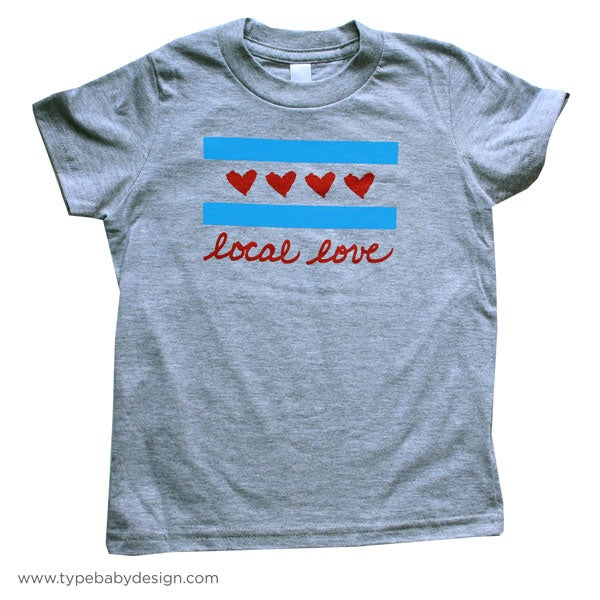 Image of Local Love Chicago Flag Kids & Toddler Tee | Chicago IL