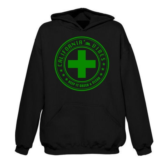 Image of KEEP IT GREEN AND CLEAN BLACK HOODIE