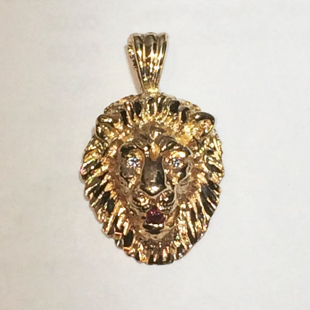 Image of Micro Lion Head Pendant
