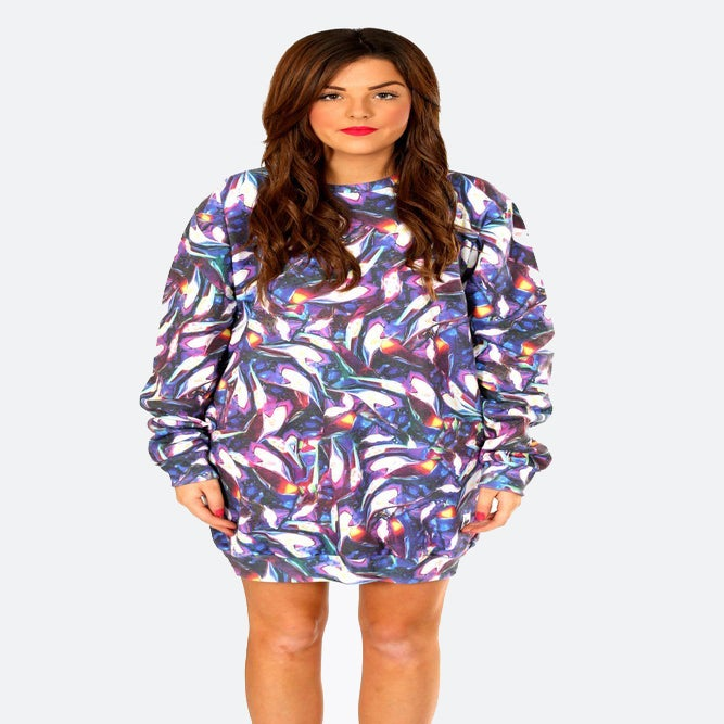 Image of HYPE. WINTERSLICK SWEAT DRESS