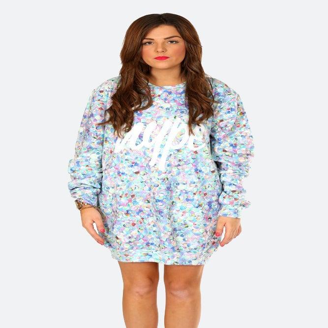 Image of HYPE. GEMS SWEAT DRESS