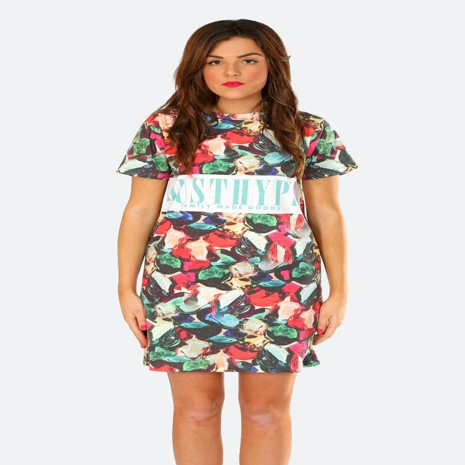 Image of HYPE. JEWELS TEE DRESS