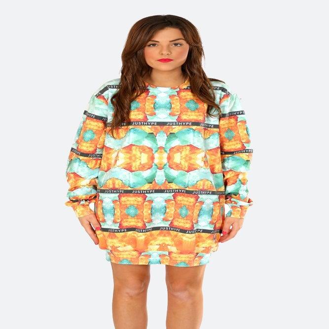 Image of HYPE. JOYSTONE SWEAT DRESS