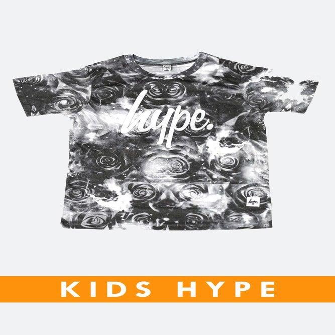 Image of HYPE KIDS. DARK ROSE SPACE TSHIRT