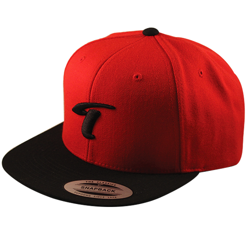 Image of T-Logo Snapback Red-Black