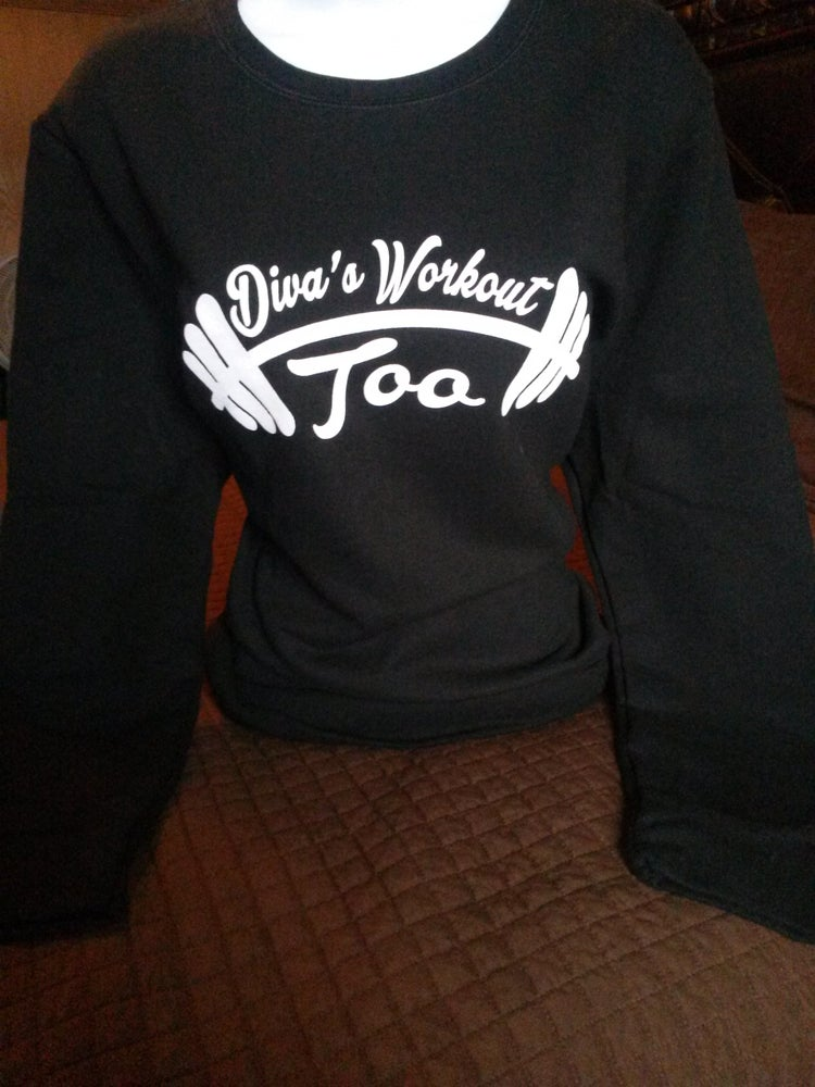 Image of Diva's Workout Too Longsleeve Sweatshirts( Black)