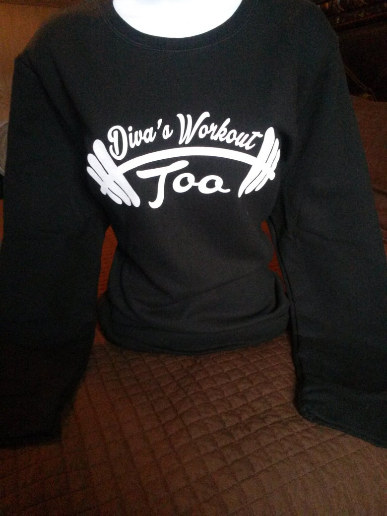 Image of Diva's Workout Too Longsleeve Sweatshirts( Black)