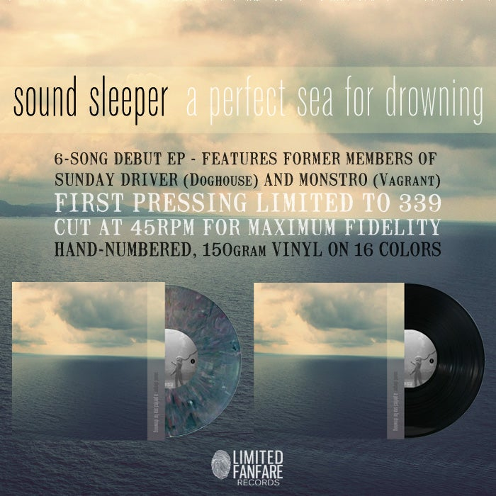 Image of sound sleeper - A Perfect Sea For Drowning (VINYL - LTD to 339)