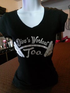Image of Diva's Workout Too Shortsleeve( Black) Conga Tees