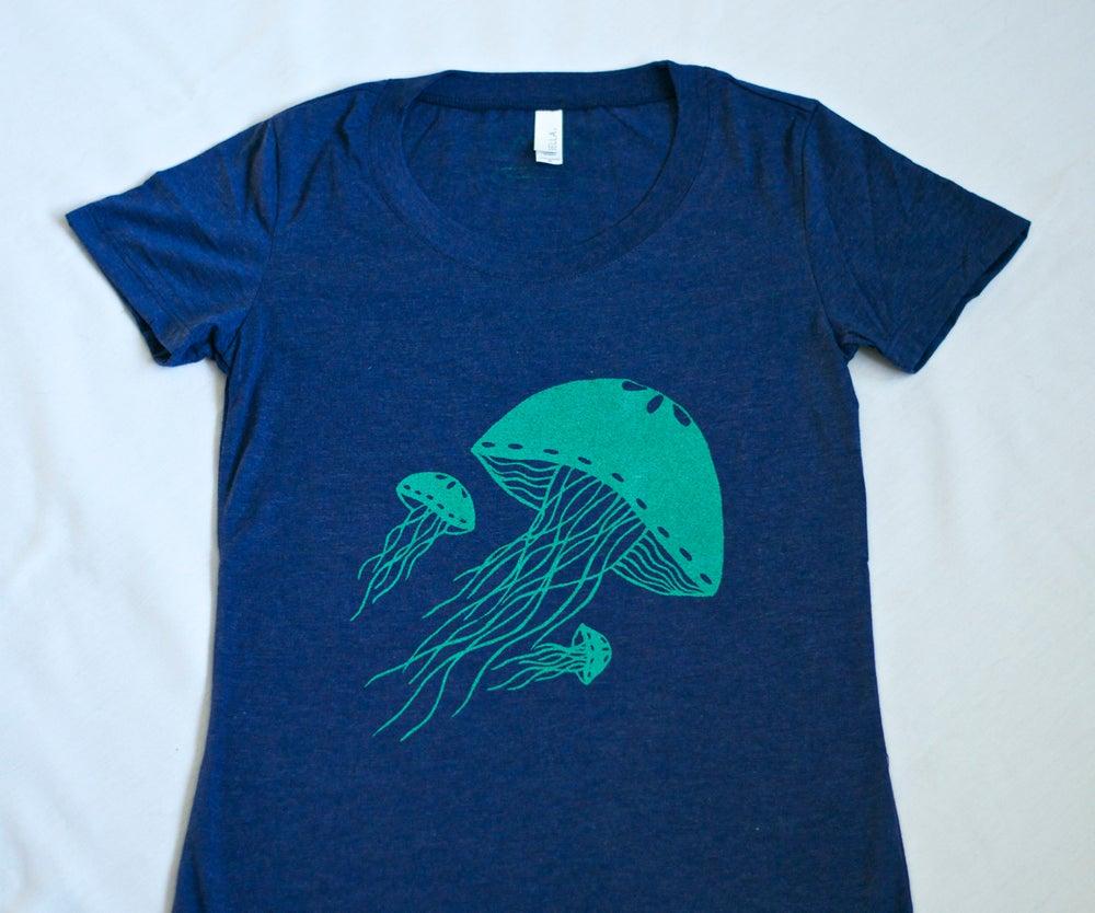 Image of Blue Jellyfish Tee- Women's