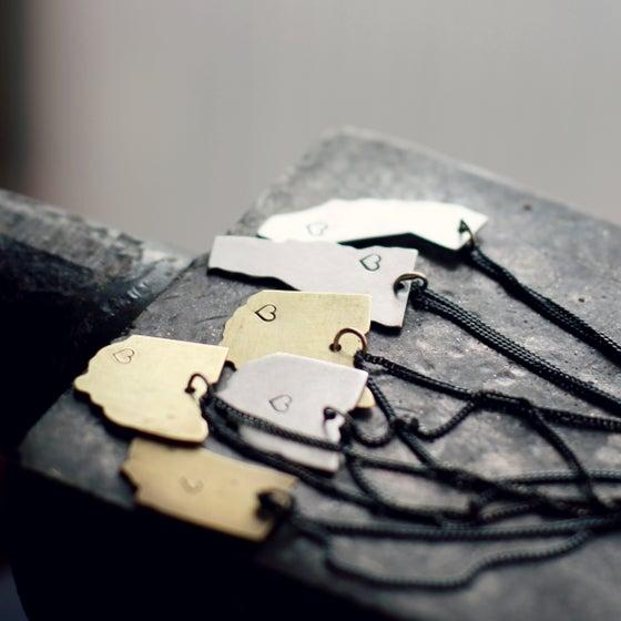 Image of Make a Little Love DIY Ohio Necklace Workshop 2/7/15