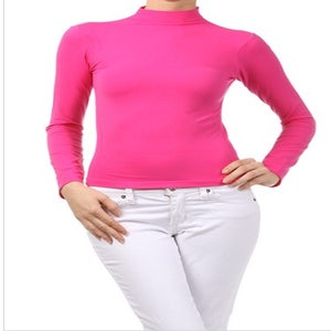 Image of Seamless turtle neck top