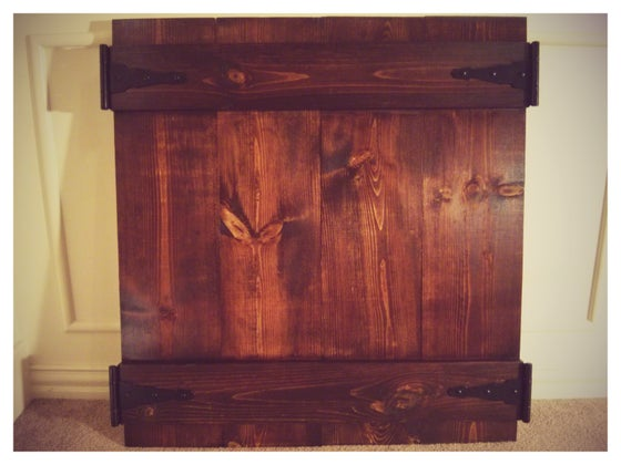 Image of Decorative Wood Backdrop