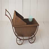 Image of Metal Pram Carriage - Vintage Style - Photography Prop