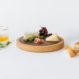 Image of Cork + Wood Cheese Board -Trivet