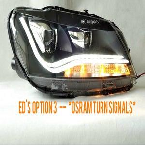 Image of OSRAM FRONT Turn Signals fits: ED's Passat B7 Option 3 - LED Stripe