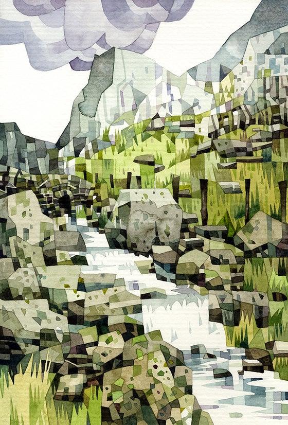 Image of Welsh Landscape watercolour prints