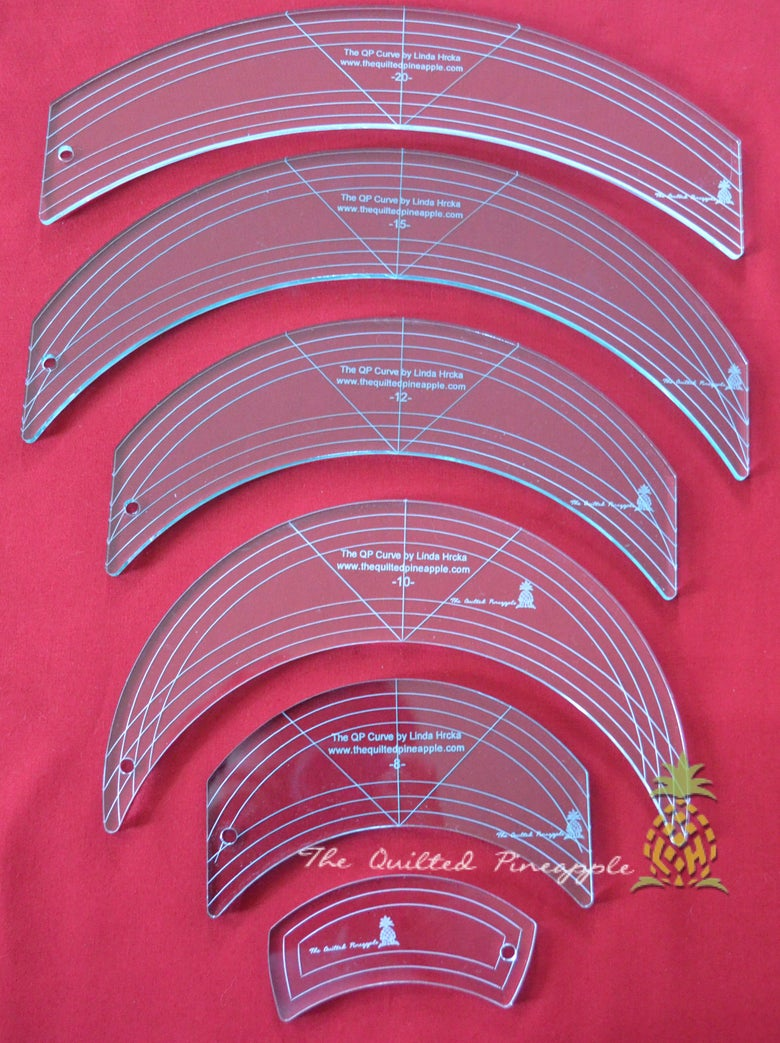 Image of HOLIDAY SALE-Set of the Original 6 QP Curve Templates by Linda Hrcka