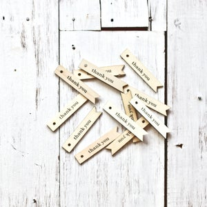 Image of Wooden 'Thank You' Tags