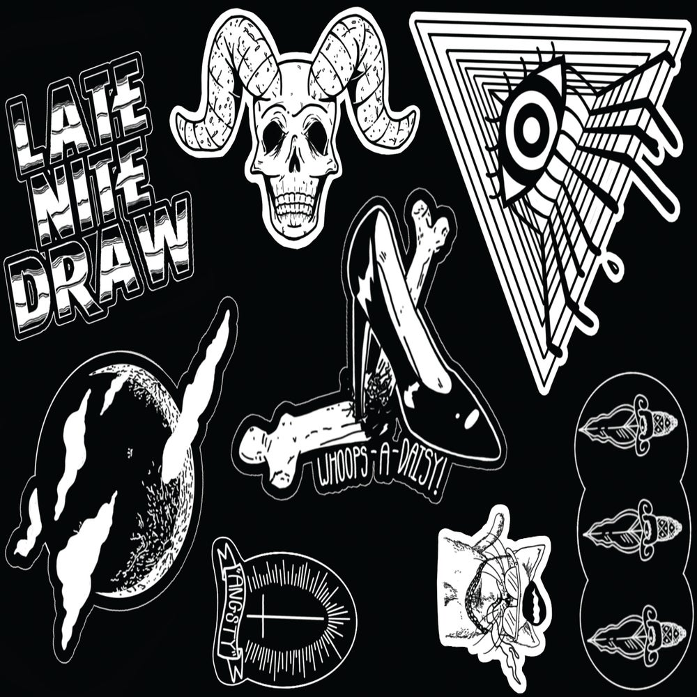 Image of Late Nite Draw Stickersheet Limited Edition