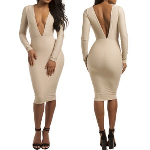 Image of Olivia Beige Dress
