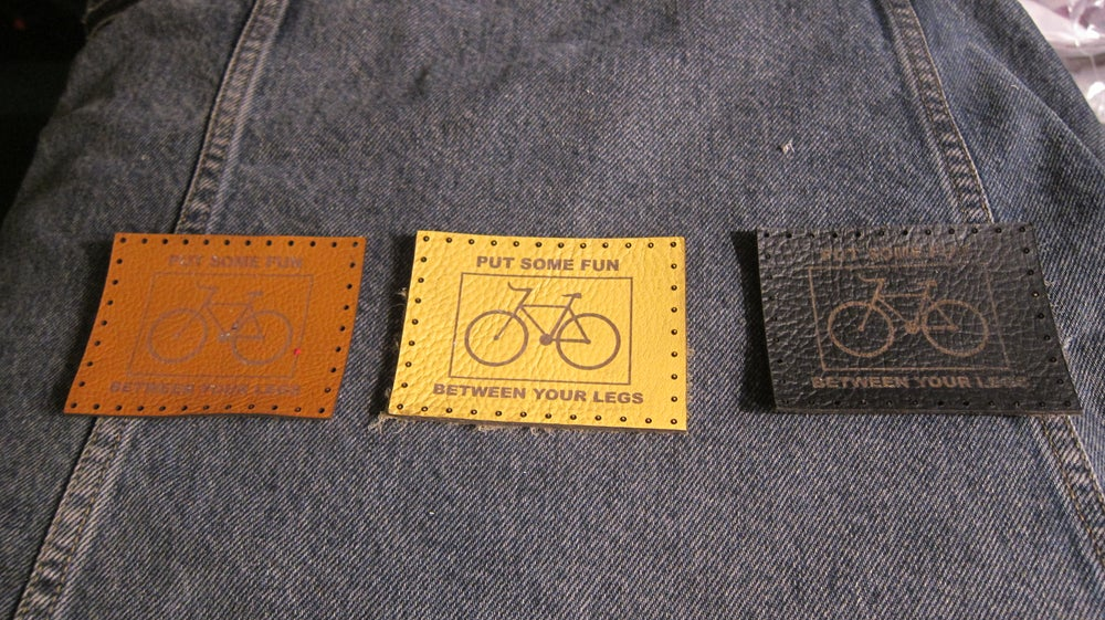 Image of LEATHER PATCH RECTANGLE